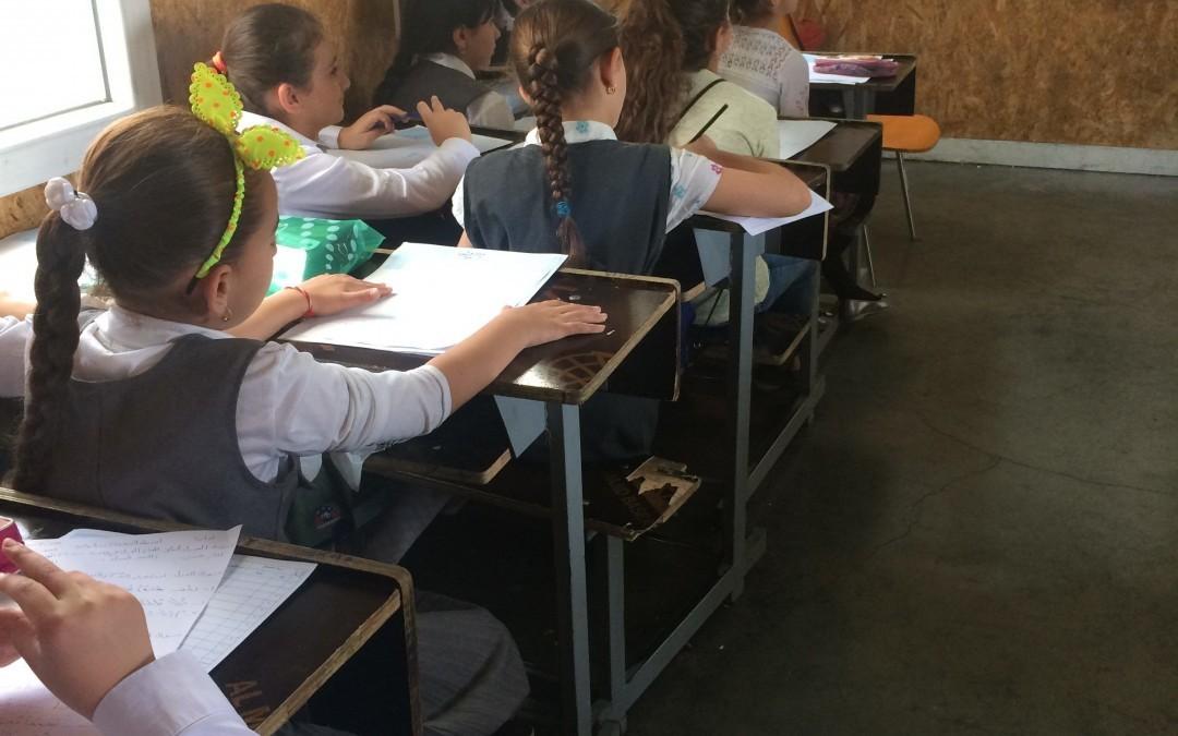 Kopiokone on Lähi-idän koululaisten ilonaihe