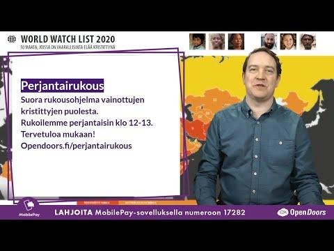 Video: Perjantairukous 8.1.2021  klo 12