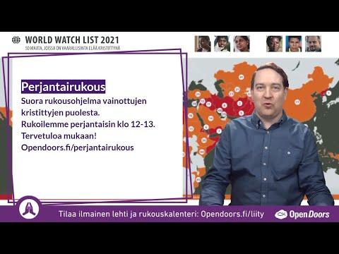 Video: Perjantairukous 5.3.2021 – tervetuloa rukoilemaan vainottujen kristittyjen puolesta