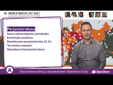 Video: Perjantairukous – suora rukousohjelma 7.5.2021. klo 12