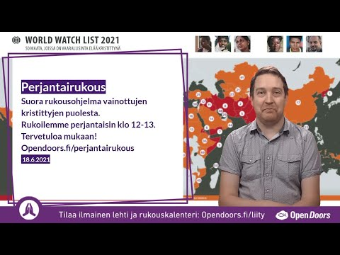 Video: Perjantairukous – suora rukousohjelma 18.6. klo 12